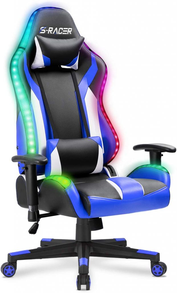 Chaise gaming Led Homall